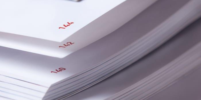 Durchgehende Seitennummerierung beim Ausdruck mehrerer Dokumente